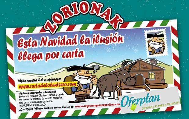 Papa Noël y Olentzero te escriben