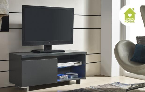 Mueble para TV 1 puerta con luz Led