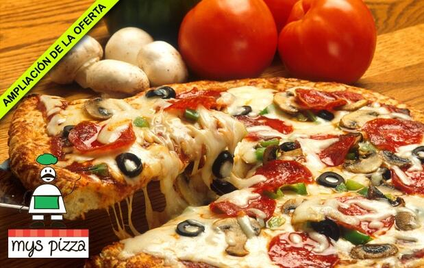 Menú Mys Pizza para dos personas