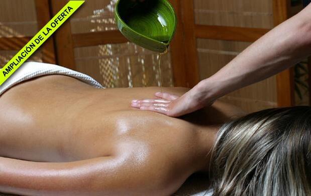 Masaje más sesión relajante