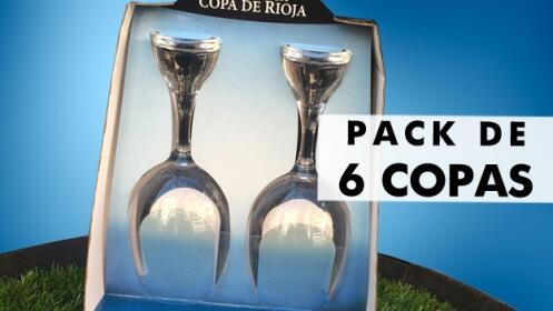 Pack exclusivo de 6 Copas de Rioja