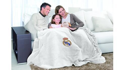 ¡Almohadilla y manta eléctrica del Real Madrid!
