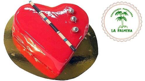 Tarta especial San Valentín con forma de corazón