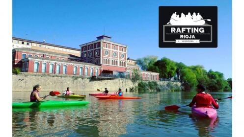 Diviértete con tus amigos, paseo en piragua por el río Ebro