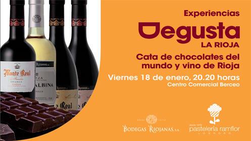 1ª CATA DEGUSTA DEL AÑO con chocolates del mundo y vino de Rioja