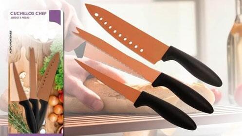 Juego de 3 cuchillos chef