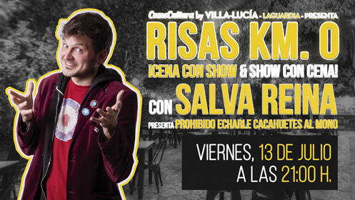 """Cena con Monólogo. SALVA REINA presenta: """"Prohibido echarle cacahuetes al mono"""""""