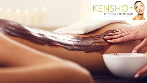 Oferta masaje chocolate + envoltura relajante con calor en Kensho