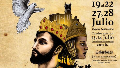 Representación medieval de las Crónicas Najerenses