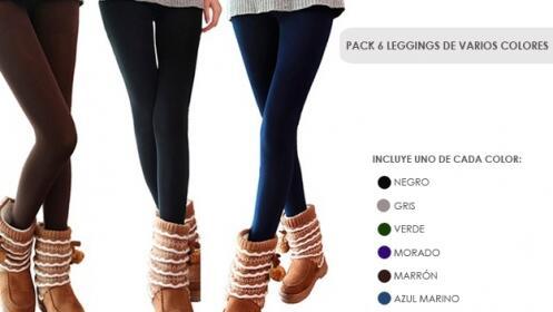 Pack 6 Leggings de Invierno