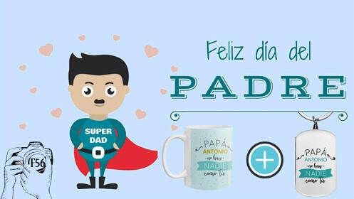 Ten un detalle con tu padre en su día: taza y llavero totalmente personalizado