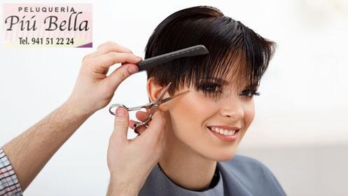 Sesión de peluquería en Piú Bella