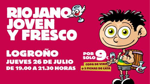 El 26 de julio, Riojano, joven y fresco en Logroño