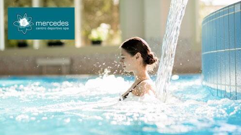 Sesión de fisioterapia o hidroterapia en Centro deportivo Spa Mercedes.