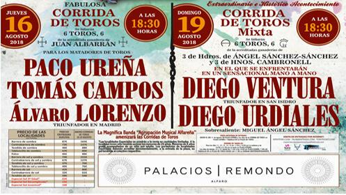 ¡¡ULTIMAS ENTRADAS!!  Entrada de Toros 16 y 19 de Agosto, en Alfaro